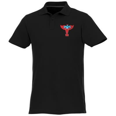 Picture of HELIOS SHORT SLEEVE MENS POLO in Black Solid