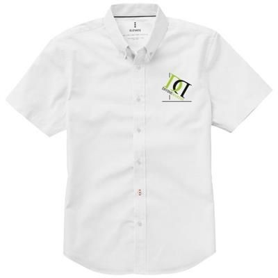 Picture of MANITOBA SHORT SLEEVE SHIRT in White Solid