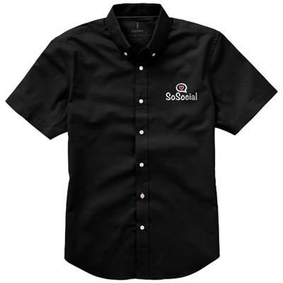 Picture of MANITOBA SHORT SLEEVE SHIRT in Black Solid
