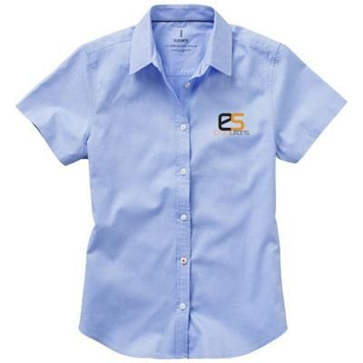 Picture of MANITOBA SHORT SLEEVE LADIES SHIRT in Light Blue