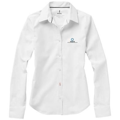 Picture of VAILLANT LONG SLEEVE LADIES SHIRT in White Solid