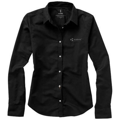 Picture of VAILLANT LONG SLEEVE LADIES SHIRT in Black Solid
