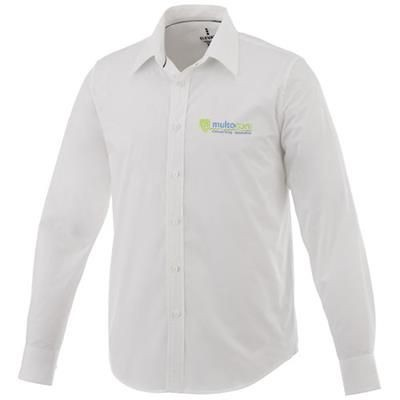 Picture of HAMELL LONG SLEEVE SHIRT in White Solid