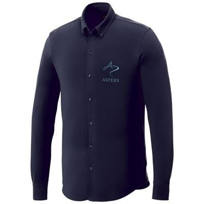 Picture of BIGELOW LONG SLEEVE MENS PIQUE SHIRT in Navy