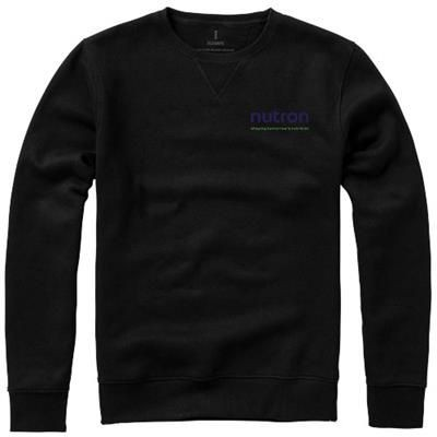 Picture of SURREY CREW SWEATER in Black Solid