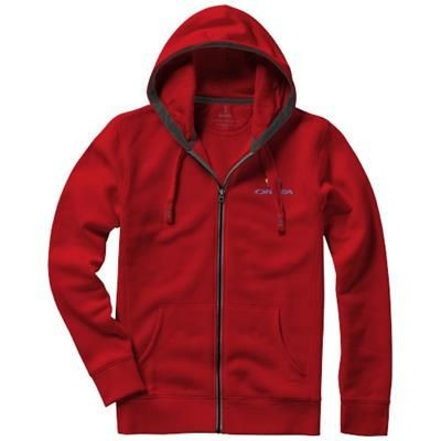 Picture of ARORA HOODED HOODY FULL ZIP SWEATER in Red