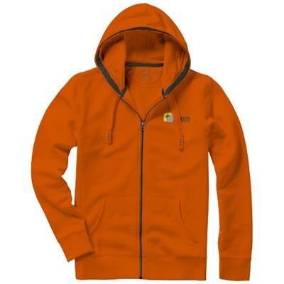 Picture of ARORA HOODED HOODY FULL ZIP SWEATER in Orange