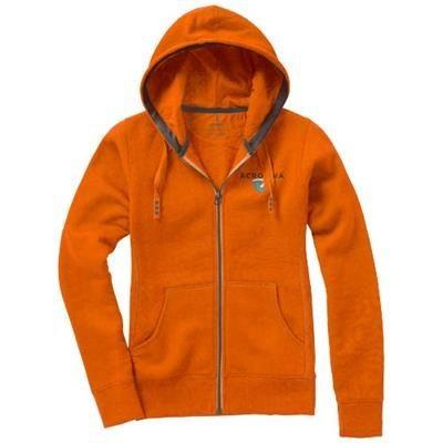Picture of ARORA HOODED HOODY FULL ZIP LADIES SWEATER in Orange