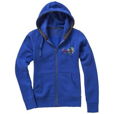 Picture of ARORA HOODED HOODY FULL ZIP LADIES SWEATER in Blue