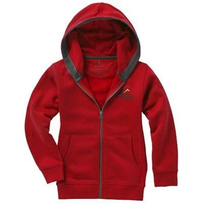 Picture of ARORA HOODED HOODY FULL ZIP CHILDRENS SWEATER in Red