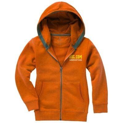 Picture of ARORA HOODED HOODY FULL ZIP CHILDRENS SWEATER in Orange