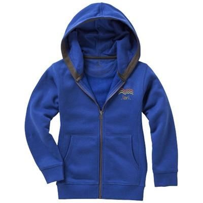 Picture of ARORA HOODED HOODY FULL ZIP CHILDRENS SWEATER in Blue