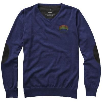 Picture of SPRUCE V-NECK PULLOVER in Navy