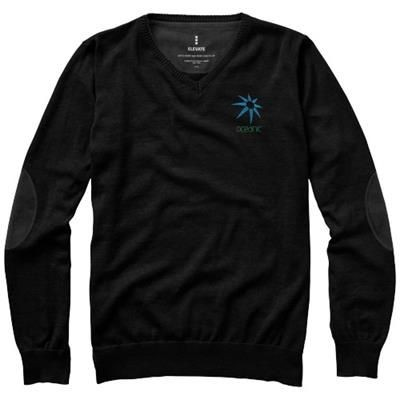 Picture of SPRUCE V-NECK PULLOVER in Black Solid