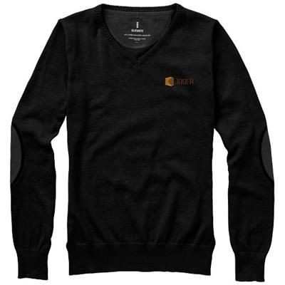 Picture of SPRUCE LADIES V-NECK PULLOVER in Black Solid