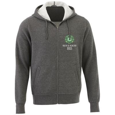 Picture of CYPRESS UNISEX FULL ZIP HOODED HOODY in Heather Charcoal