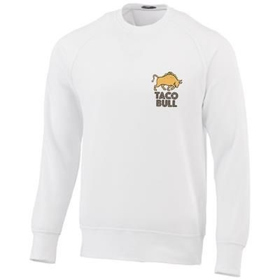 Picture of KRUGER UNISEX CREW NECK SWEATER in White Solid