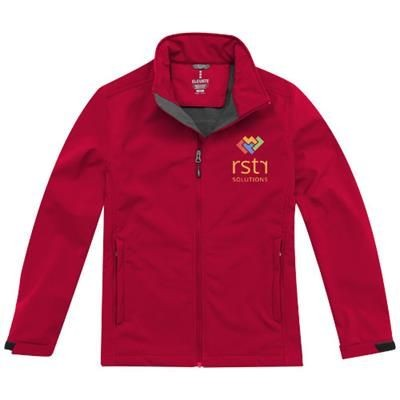 Picture of MAXSON SOFTSHELL JACKET in Red