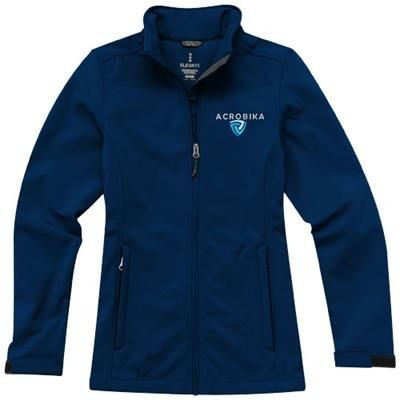 Picture of MAXSON SOFTSHELL LADIES JACKET in Navy