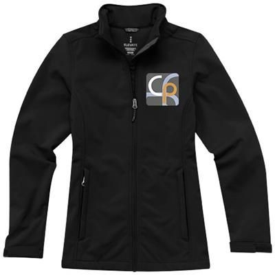 Picture of MAXSON SOFTSHELL LADIES JACKET in Black Solid