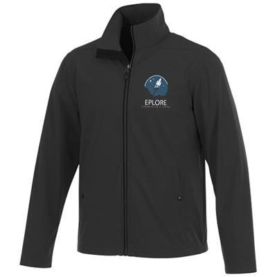 Picture of KARMINE MENS SOFTSHELL JACKET in Black Solid