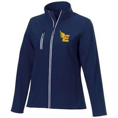 Picture of ORION LADIES SOFTSHELL JACKET in Navy