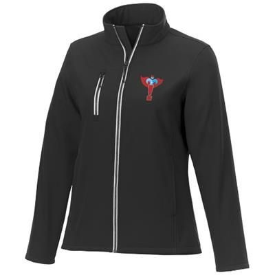 Picture of ORION LADIES SOFTSHELL JACKET in Black Solid