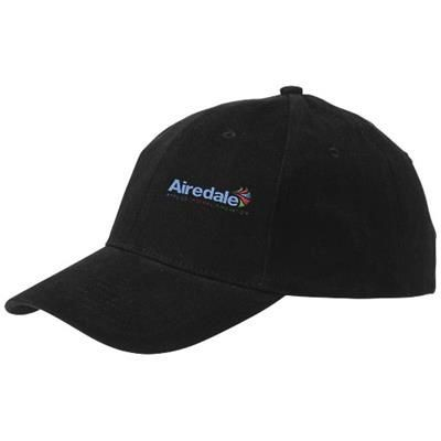 Picture of BRYSON 6 PANEL CAP in Black Solid