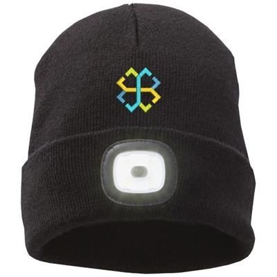 Picture of MIGHTY LED KNIT BEANIE, BLACK in Black Solid