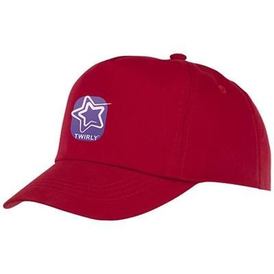 Picture of FENIKS CHILDRENS 5 PANEL CAP in Red