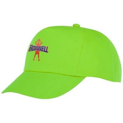 Picture of FENIKS CHILDRENS 5 PANEL CAP in Apple Green