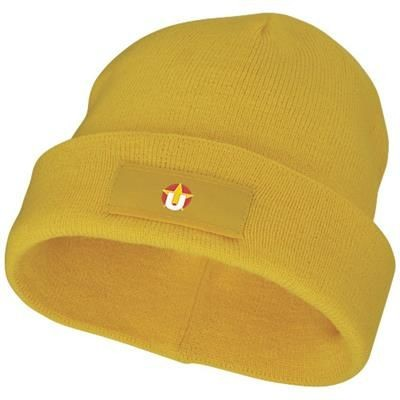 Picture of BOREAS BEANIE with Patch in Yellow