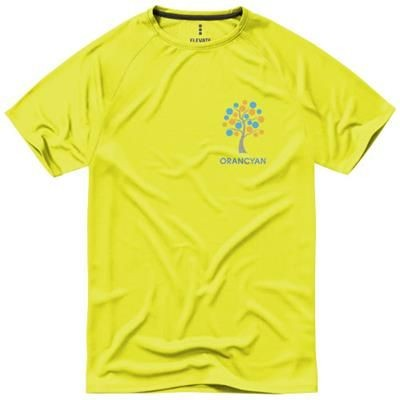 Picture of NIAGARA SHORT SLEEVE MENS COOL FIT T-SHIRT in Neon Fluorescent Yellow