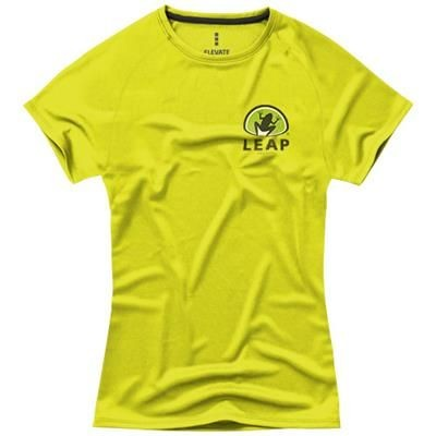 Picture of NIAGARA SHORT SLEEVE LADIES COOL FIT T-SHIRT in Neon Fluorescent Yellow