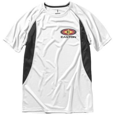 Picture of QUEBEC SHORT SLEEVE MENS COOL FIT T-SHIRT in White Solid