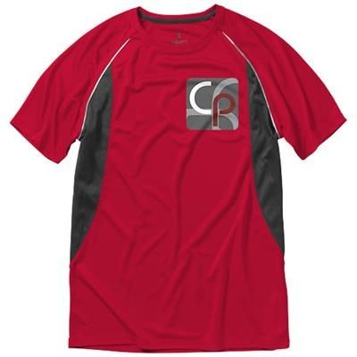 Picture of QUEBEC SHORT SLEEVE MENS COOL FIT T-SHIRT in Red