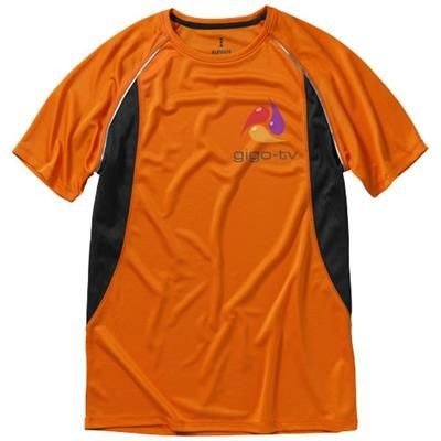Picture of QUEBEC SHORT SLEEVE MENS COOL FIT T-SHIRT in Orange