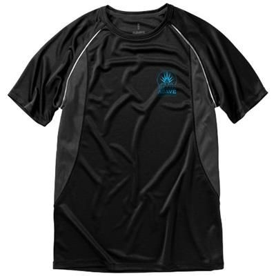 Picture of QUEBEC SHORT SLEEVE MENS COOL FIT T-SHIRT in Black Solid