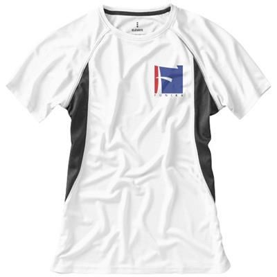 Picture of QUEBEC SHORT SLEEVE LADIES COOL FIT T-SHIRT in White Solid