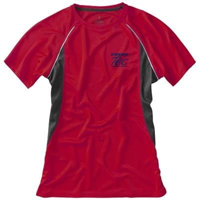 Picture of QUEBEC SHORT SLEEVE LADIES COOL FIT T-SHIRT in Red