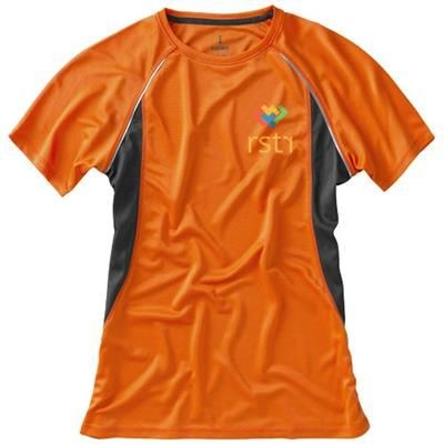 Picture of QUEBEC SHORT SLEEVE LADIES COOL FIT T-SHIRT in Orange