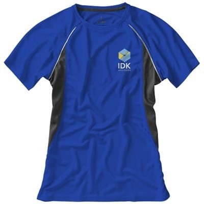 Picture of QUEBEC SHORT SLEEVE LADIES COOL FIT T-SHIRT in Blue