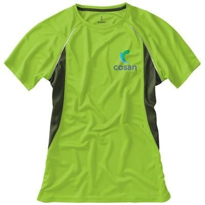 Picture of QUEBEC SHORT SLEEVE LADIES COOL FIT T-SHIRT in Apple Green
