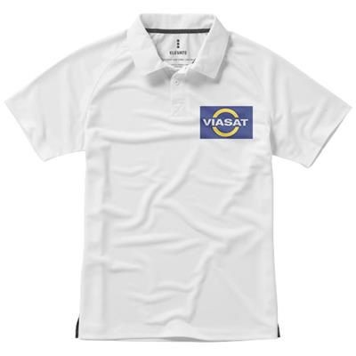 Picture of OTTAWA SHORT SLEEVE MENS COOL FIT POLO in White Solid
