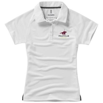 Picture of OTTAWA SHORT SLEEVE LADIES COOL FIT POLO in White Solid
