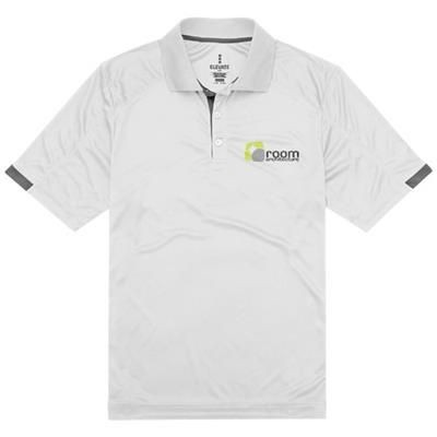Picture of KISO SHORT SLEEVE MENS COOL FIT POLO in White Solid