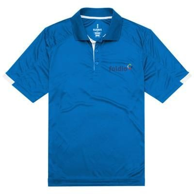 Picture of KISO SHORT SLEEVE MENS COOL FIT POLO in Blue