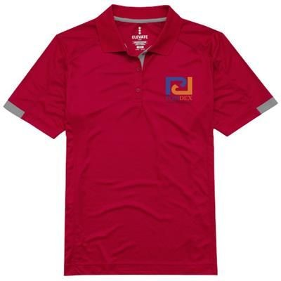 Picture of KISO SHORT SLEEVE LADIES COOL FIT POLO in Red