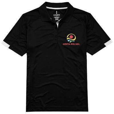 Picture of KISO SHORT SLEEVE LADIES COOL FIT POLO in Black Solid