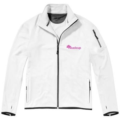 Picture of MANI POWER FLEECE FULL ZIP JACKET in White Solid